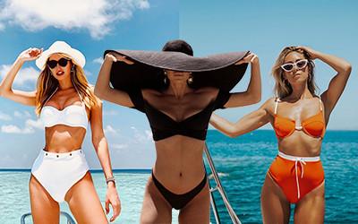 Красивые раздельные купальники на модницах из Instagram