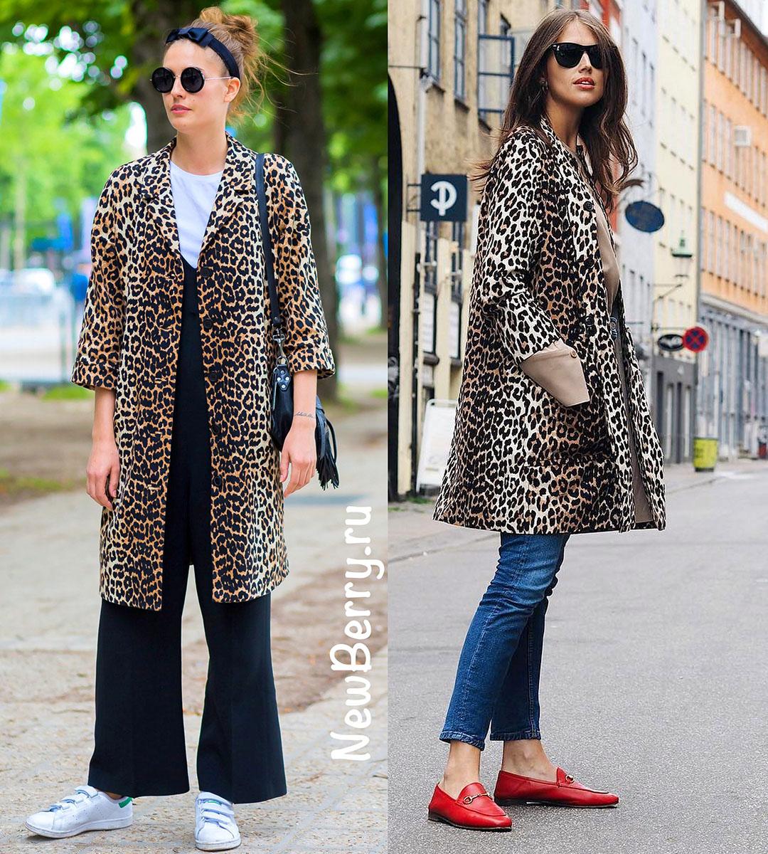 Леопардовые пальто и шубы. Примеры на модных блогерах новые фото