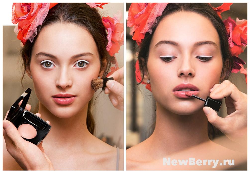 Макияж моделей на показе Chanel Pre-fall 2019 новые фото