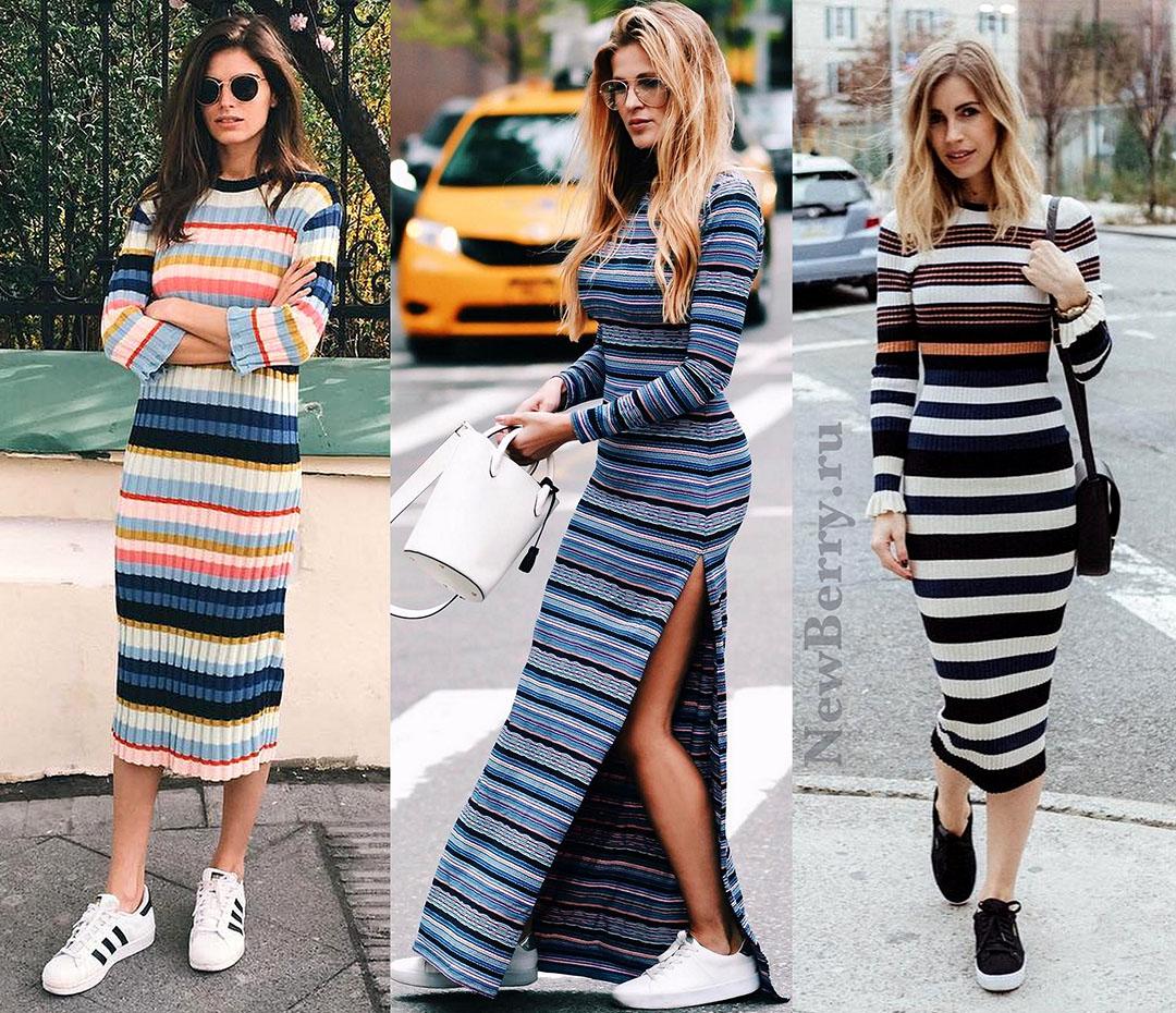 f920a493004 Кеды и кроссовки под платье - 30 примеров на модных блогерах