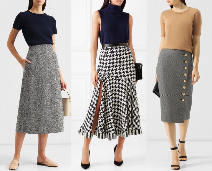 Модная шерстяная юбка. Выбираем 10 лучших вариантов с чем носить