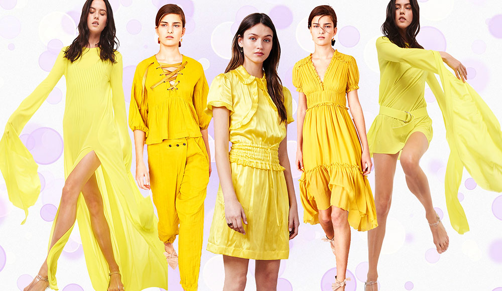 Картинки одежды желтого цвета